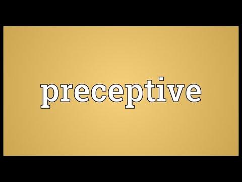 Header of preceptive