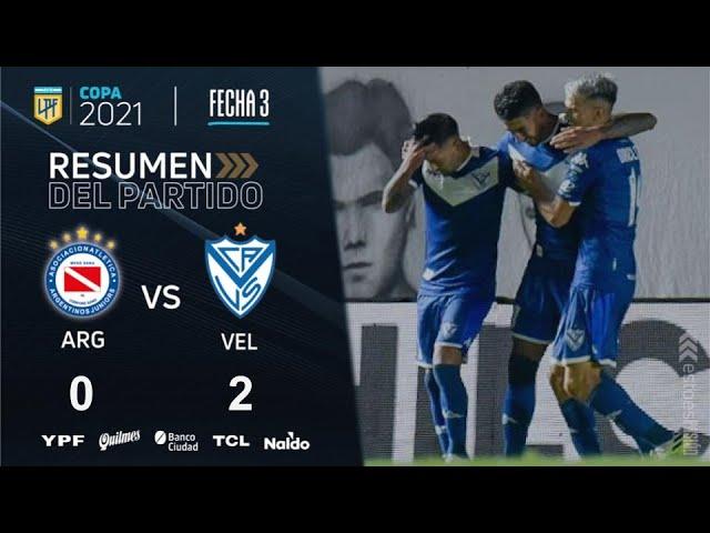 Copa De La Liga | Fecha 3 | resumen de Argentinos - Vélez