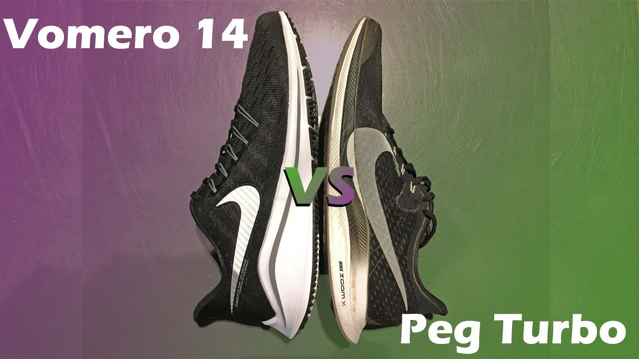Nike Zoom Vomero 14 VS Pegasus Turbo