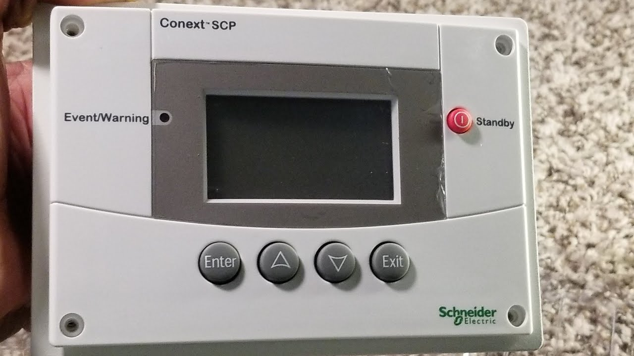 Schneider SCP System Control Panel, Conext