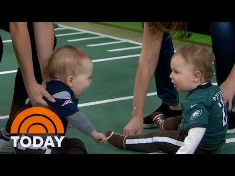 See Savannah Guthrie And Dylan Dreyer's Babies Compete In Baby Bowl | TODAY
