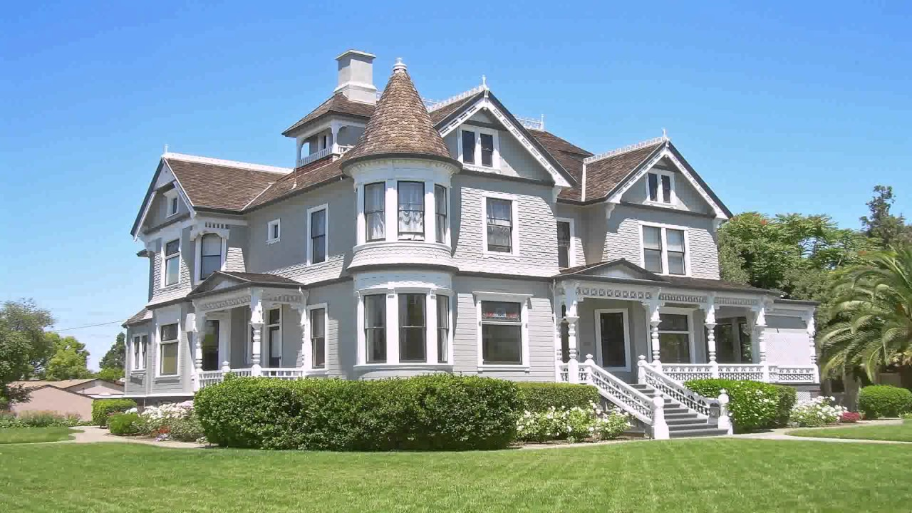 Queen Anne Style House England - YouTube  Queen Anne Styl...