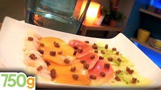 Recette de Carpaccio de fruits exotiques et sirop aux épices - 750g