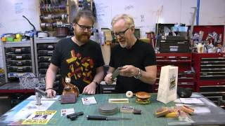 Inside Adam Savage's Cave: The Tarantino Shelf