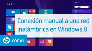 Conexión manual a una red inal…