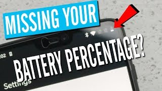 How to get Oneplus 6 Battery Percentage to Show - Oxygen OS 5.1.0