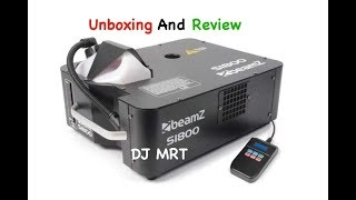 Beamz S1800 Smoke Machine DMX Unboxing And Review
