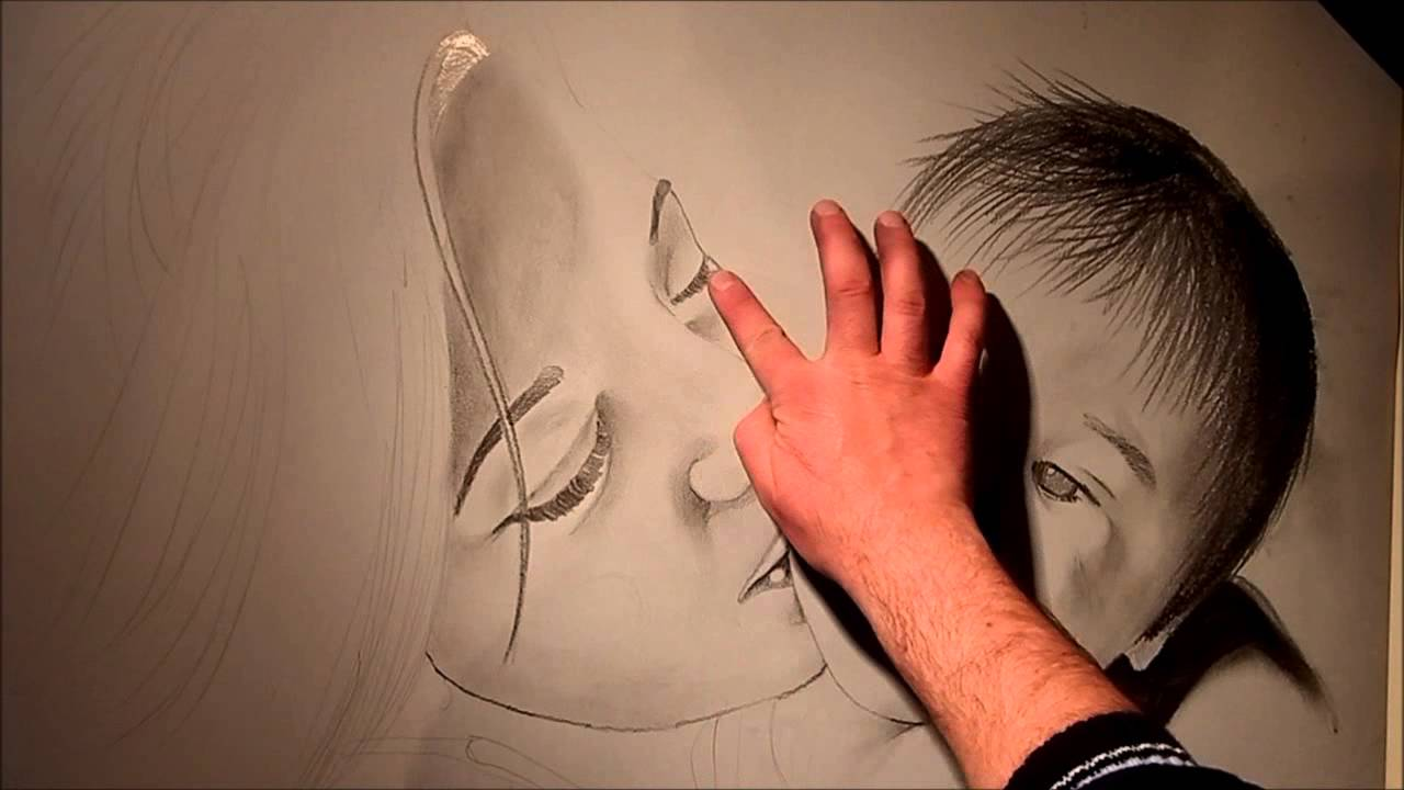 Ben noto speed painting,tutorial disegno con carboncino e gessetto - YouTube JN06