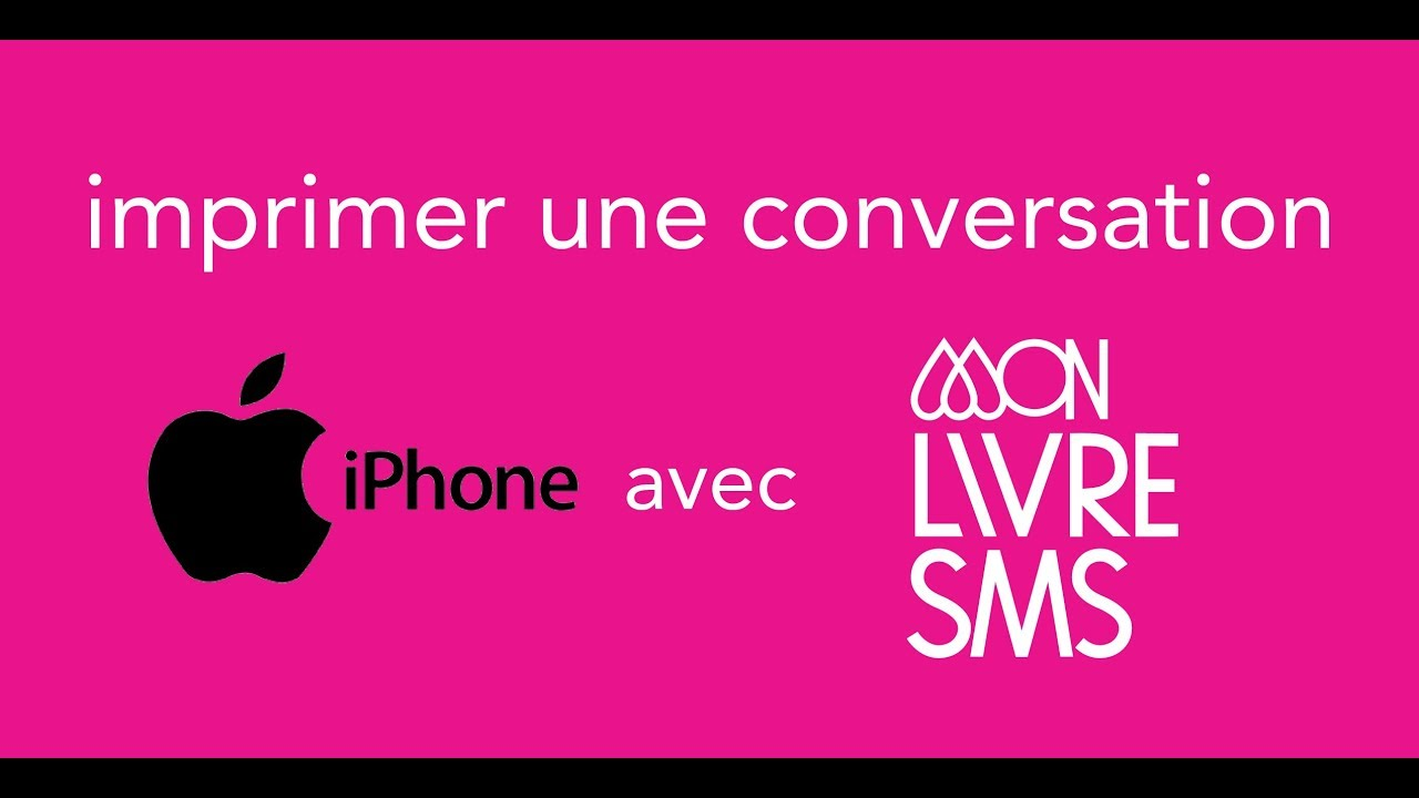 Print your iPhone chat ^ _ ^ MonLivreSMS 1