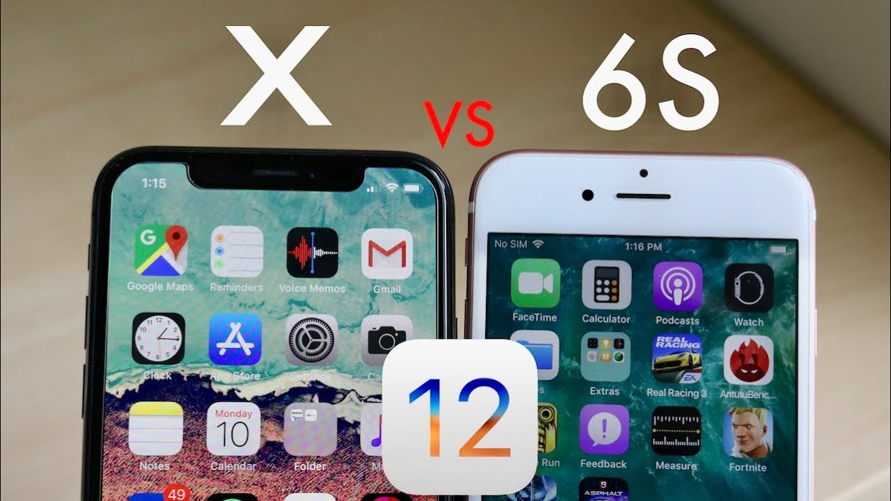 iphone 6 ios iphone x vs iphone 6s on ios 12 speed comparison 11350
