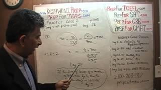 TEAS V, Practice Test 2, p305, Study Manual, Math Day 72, Nursing Online Prep Tutor GRE, GMAT, SAT