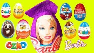 13 яєць з сюрпризом, розпакування кіндер Джой, OZMO, TOYTOY, Улкер Смартт, малюк Барбі, ляльки ,машини,іграшки