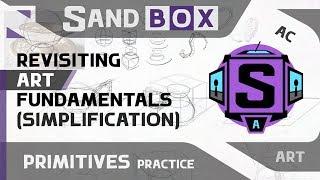 (Чашка Упрощение) Сессия 22 - Creative Sandbox [RUS/eng] (Пересмотр основ рисования)
