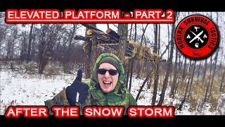 Elevated Platform Shelter Part 2 / AFTER THE SNOW STORM Video