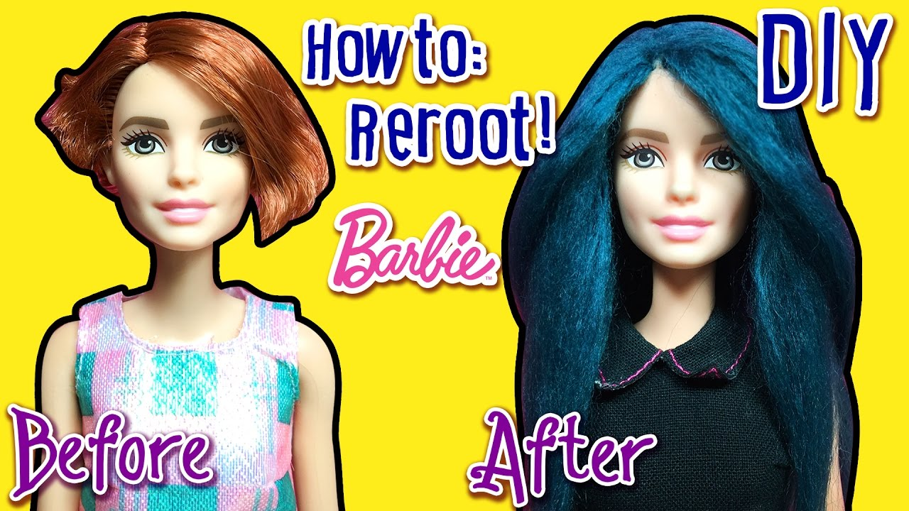 how to make doll hair with yarn