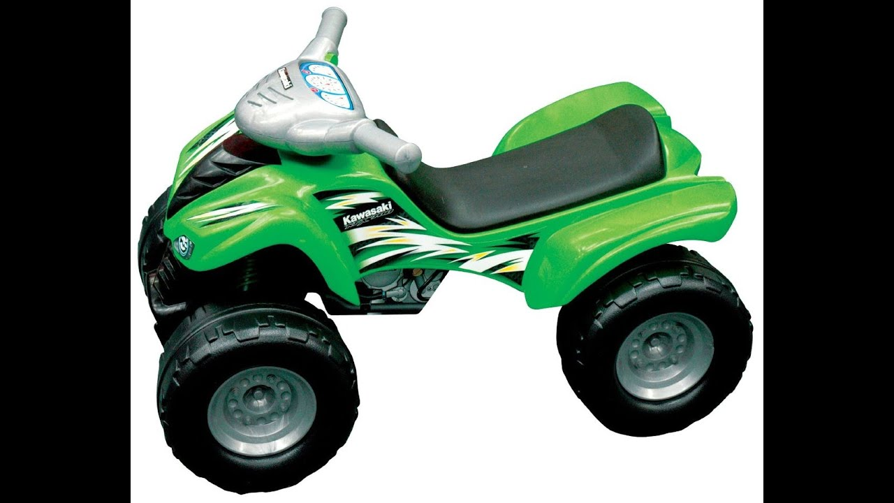 kawasaki kfx 700 quad ride on toy for kids youtube. Black Bedroom Furniture Sets. Home Design Ideas