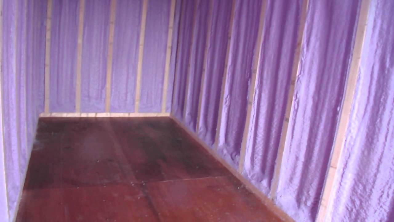 shipping container insulation | spray foam insulation - youtube