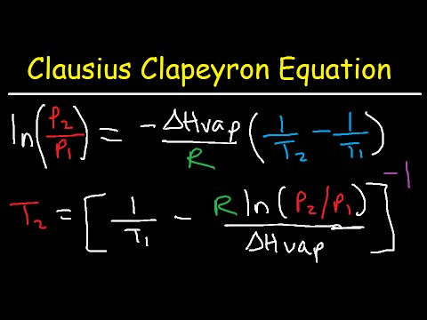 Clausius Clapeyron Equation Examples and Practice Problems