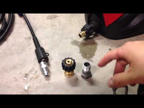 How To Add Quick Connects Disconnects to Electric Pressure Washer