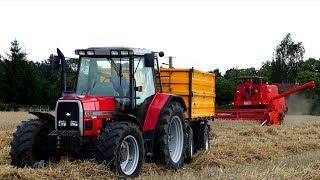 ☆ Czerwone, Polskie żniwa ㋡ Bizon Super Z-056, M-F 6180, Wielton, Autosan