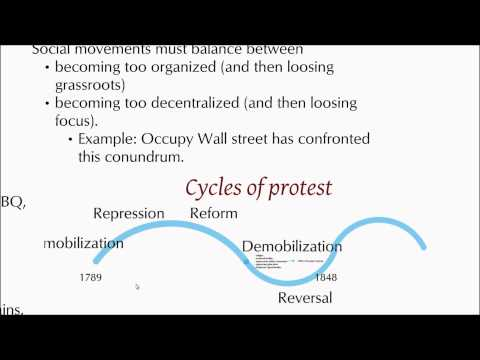 Social movements: opportunities, organization and time