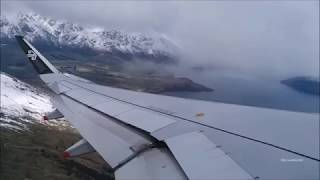Air New Zealand Airbus A320-232 Snowy  Takeoff Queenstown Airport thumbnail