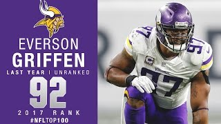 #92: Everson Griffen (DE, Vikings) | Top 100 Players of 2017 | NFL