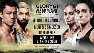 GLORY 61 New York: Opening Betting Odds and Weigh-Ins Video