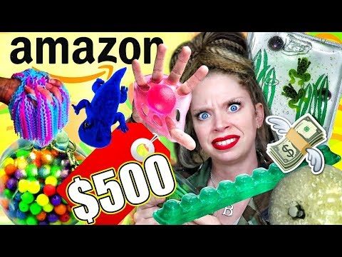 I Spent $500 on the WEIRDEST STRESS TOYS from AMAZON!