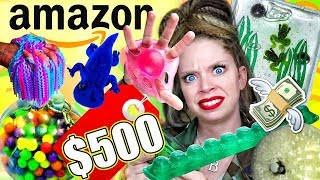 I Spent $500 on the WEIRDEST STRESS TOYS from AMAZON!