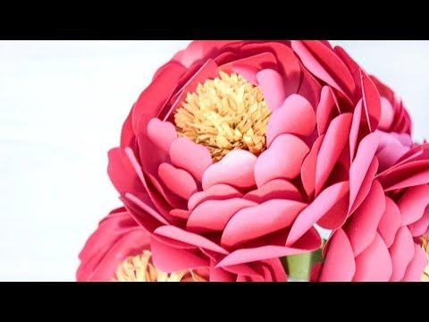 Full Bloom Paper Peony Flower Tutorial
