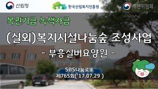 (나눔숲조성사업) 충북괴산 부흥실버요양원 실외나눔숲 조…