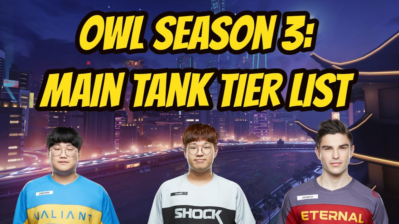 Overwatch League Season 3 Main Tank Tier List