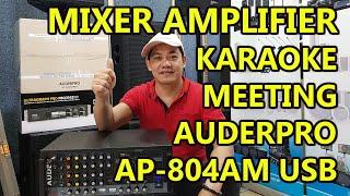 Mixer amplifier AUDERPRO AP-804AM USB original bergaransi resmi 1 tahun kualitas bagus untuk karaoke dan meeting dll