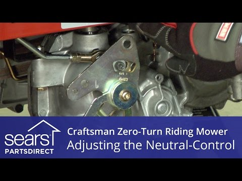 How to Adjust a Craftsman Zero-Turn Riding Mower Neutral Control