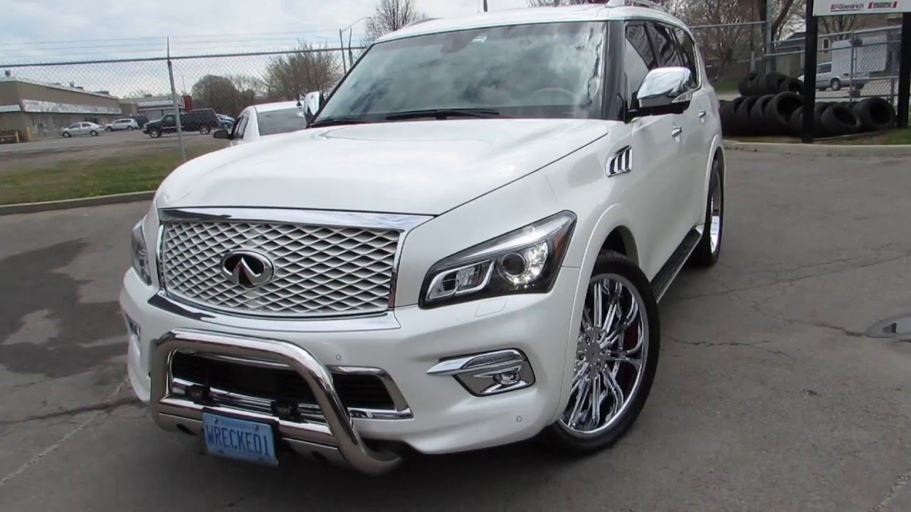 2015 infiniti qx 80 riding on custom 24 inch chrome rims tires 2015 infiniti qx 80 riding on custom 24 inch chrome rims tires youtube vanachro Choice Image