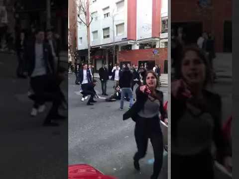 Una pelea en Santander obliga a actuar a la policía de manera contundente