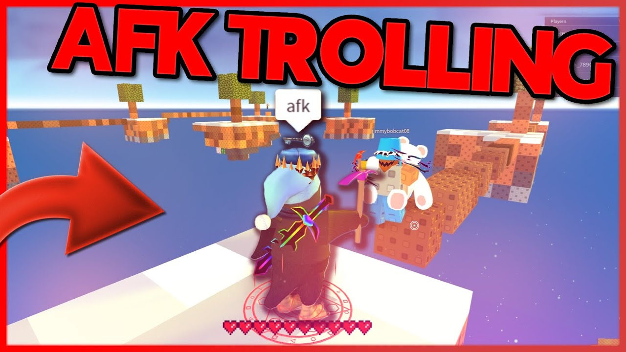 Afk Sign Roblox Afk Trolling Funny Moments Roblox Skywars Youtube