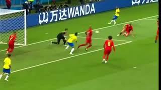 Thibaut Courtois vs Brazil   World Cup 2018   Quarter Finals   06 07 18  HD