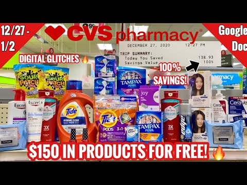 CVS Free & Cheap Coupon Deals & Haul | 12/27 – 1/2 | $150 in Products for FREE! 100% Savings!🔥🙌🏽
