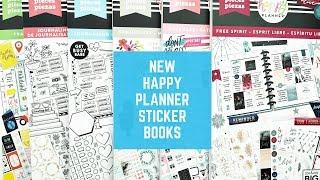 Flipthroughs of all the new Happy Planner Sticker Books! // Planner Haul!