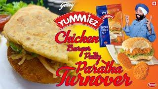 Godrej Yummiez | Chicken Burger Patty Parantha Turnover | Ghar Ka Fast Food