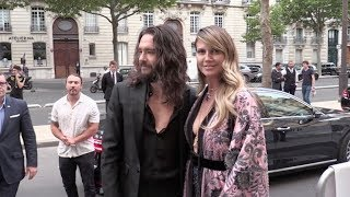 Heidi Klum and Tom Kaulitz arriving at the Amfar Gala in Paris