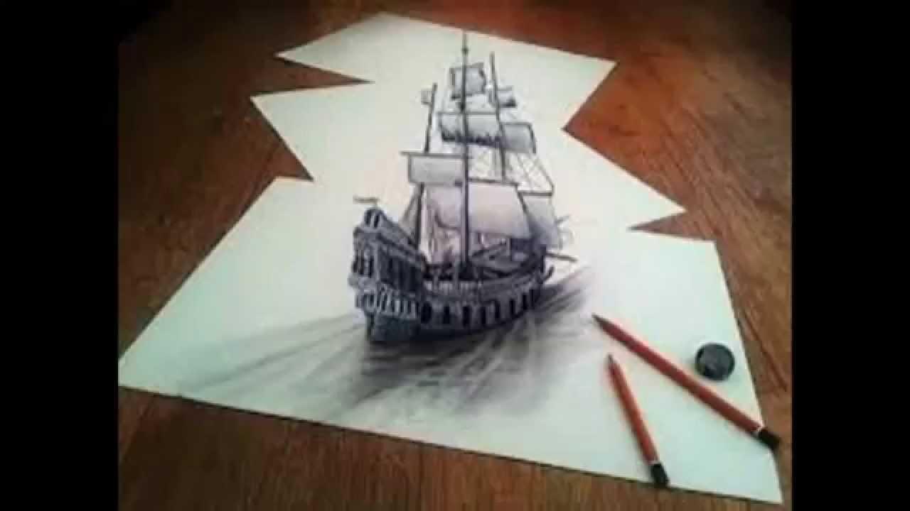 Dibujos a lapiz 3d youtube for Disegno 3d free