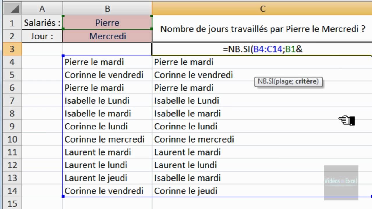 """Excel 2007 : """"&"""" commercial - Rapprochez 2 critères pour"""