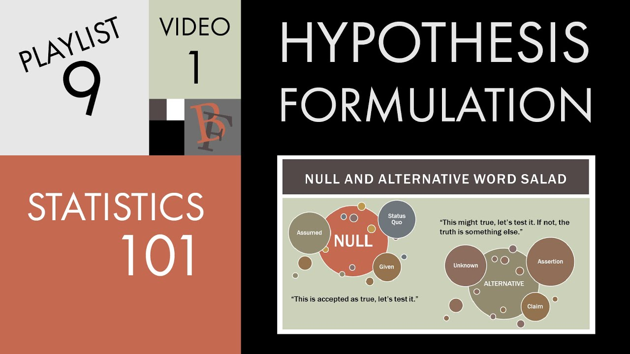 Statistics 101 Introduction To Hypothesis Formulation