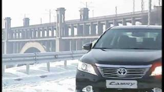 Toyota Camry 2012. Winter test-drive.flv