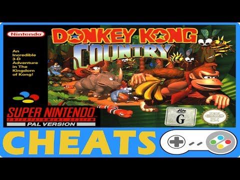 Donkey Kong Country (SNES) Cheats + Action Replay + Game Genie Codes