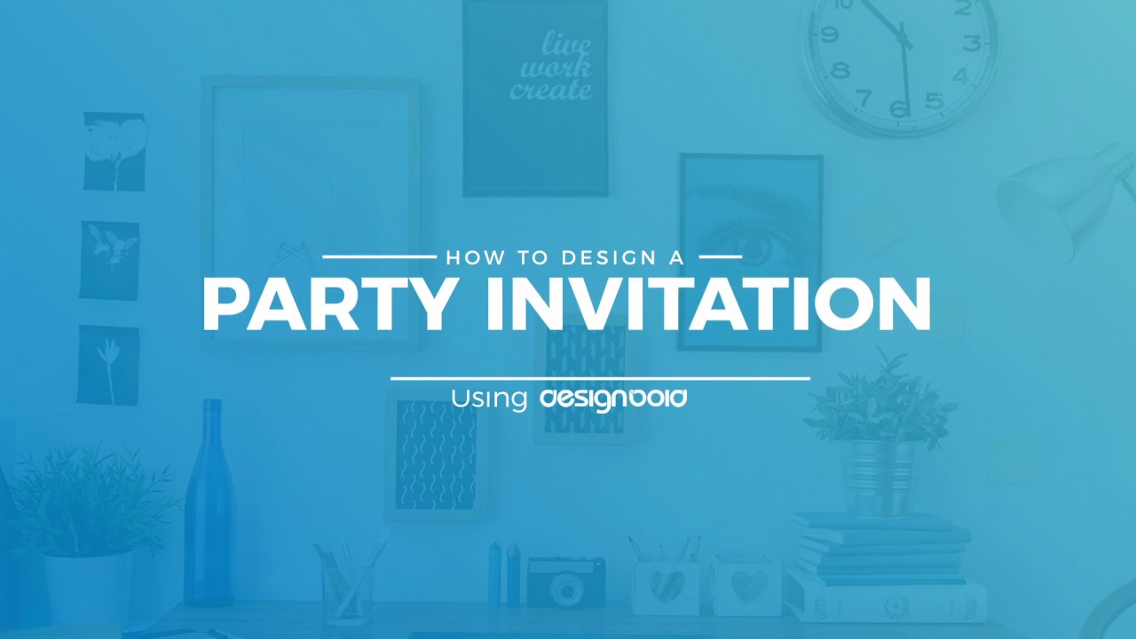 how to design party invitations online using designbold youtube