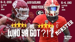 UGA vs Oklahoma: Who got the sickest '19 wide receiver?